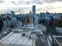 view of Tokyo from hotel window